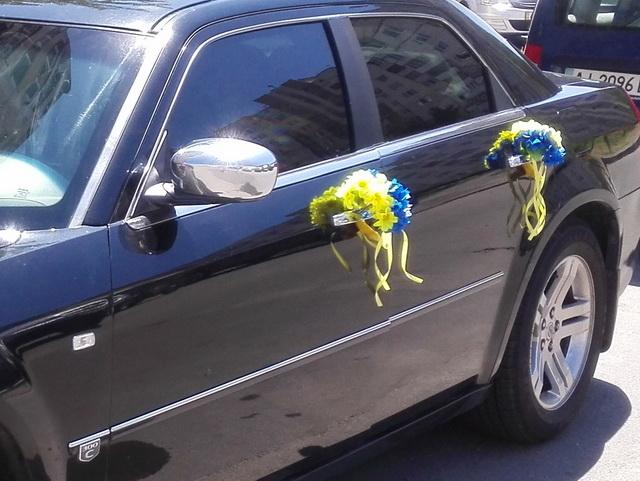 свадебные украшения на авто национальные